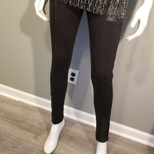 Black Pants with Leather Detailing sz Sm